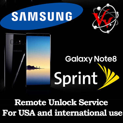 Samsung Galaxy Sprint  S8/S8 Plus Remote Unlock Service G950U G955U