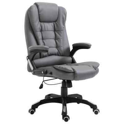 vidaXL Kantoorstoel Kunstleer Antraciet Bureaustoel Computerstoel Stoelen