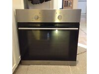 Stainless steel,Logic single fan assisted oven.