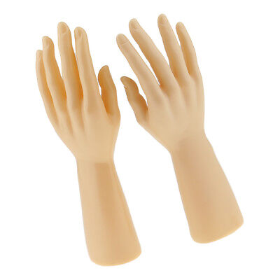 Pair Mannequin Hand Jewelry Bracelet Gloves Display Stand Organizer Holder