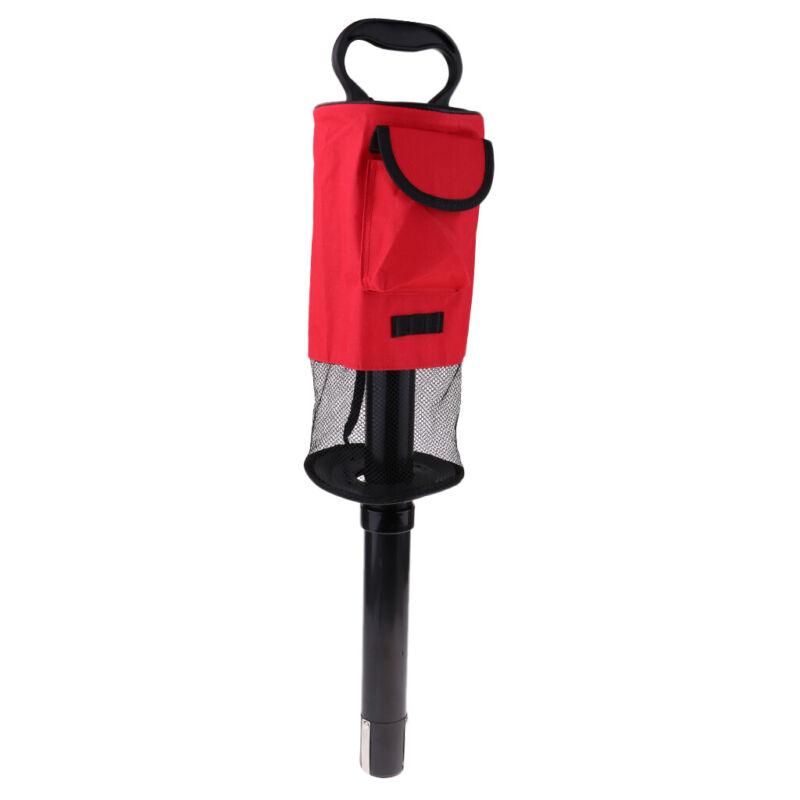 Convenient Golf Balls Shag Bag Pick Up Shagger Picker Collector Retrievers