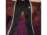 Ladies Size 12 Black Adidas Tracksuit Bottoms