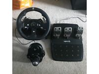 G920 Driving Force Wheel & Shifter - For XBox/PC
