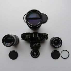 Canon A-1, 35mm SLR Camera (1732411) with Canon 50mm 1.8 Lens plus three (3) other FD lens; For Sale