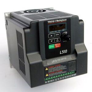 hitachi vfd. 1 hp 115v 1ph input 230v 3ph output teco variable frequency drive l510-101- hitachi vfd