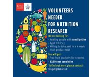Nutrition study looking for participants with constipation