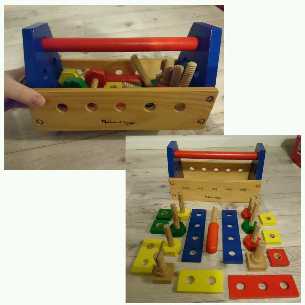 melissa and doug wooden tool kit toy in havant