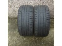 2 x 255/35 ZR19 96WXL Tyres only done 100 miles