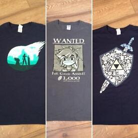Qwerty (Zelda & final fantasy) tshirts
