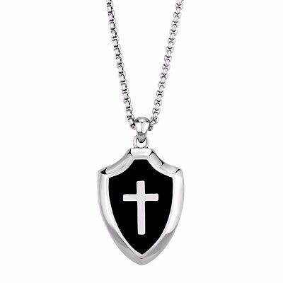 Knights templar pendantebay 1 mens templar knights 316 stainless steel heavy cross shield pendant 20 necklace mozeypictures Image collections
