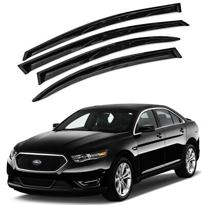 For 2010-2016 Ford Taurus 4pcs Smoke Acrylic Window Sun Rain Visors Wind Guard