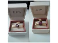 Authentic silver Pandora charms -2psc