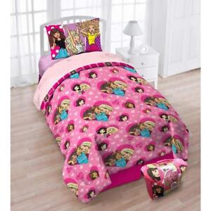 Mattel Barbie 'B Anything' Girls Exclusive 4-Piece Twin Bedding Set with Bonus Tote