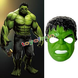Super Hero Avengers Incredible Hulk Adult Mask Halloween Cosplay Costume