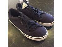 Boys Blue size 3 vans shoes