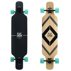Playshion Freestyle Drop Through Longboard Skateboard - 39 Inch - Ship Across Canada