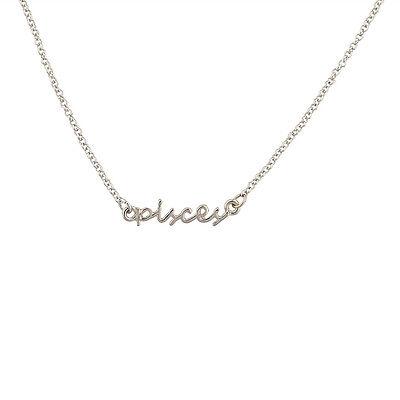 Lux Pisces Fish Horoscope Zodiac Word Pendant Necklace