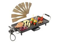 VonShef Electric Teppanyaki Table Top Grill Griddle BBQ Barbecue Garden Camping
