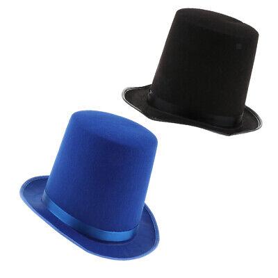Adult Top Hat Fancy Dress Solid Felt Magician Performing Hat Party Favors](Top Hat Favors)