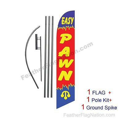 Easy Pawn Feather Banner Swooper Flag Kit With Polespike