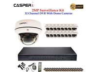 32 channel DVR With HD 1080P Dome And Bullet Cameras Night Vision Complete Kit