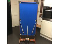 """4ft 6"""" foldable pool table"""