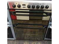 Indesit silver and black 60cm fan oven