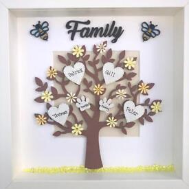 Handmade frame: family tree