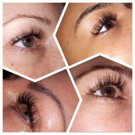 Eyelash extensions,Eyelash lift and tint.