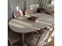 LARGE EXTENDING CHRISTMAS DINING TABLE & 6 CHAIRS 🎄🎄🎄🎄