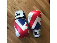 Kickboxing gloves and leg guards