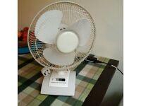 12'' table top oscillating fan vgc