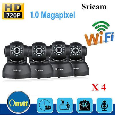 4X Sricam 720P Wifi 1 0 Mp H 264 Wireless Pt Onvif Cctv Security Ip Camera Ek