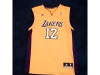 Adidas NBA Los Angeles Lakers Howard Revo 30 Swingman Basketball Jersey Vest Gld