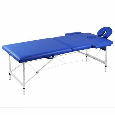 vidaXL Mesa de Masaje Camilla de Masaje Aluminio Plegable 2 Zonas +...
