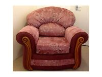 A Comfortable Armchair With Floral Design
