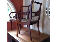 2 Vintage Carver Chairs / Can Deliver