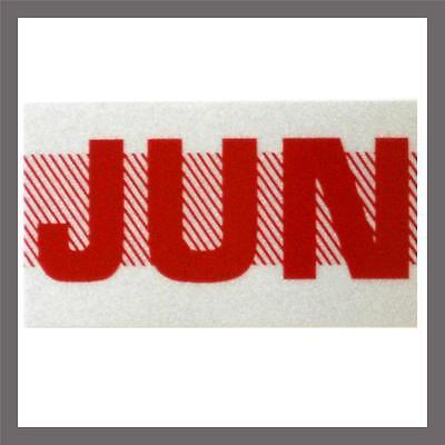 June Month California Dmv License Plate Red Registration Sticker Tag Yom Ca
