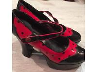 Lady bird shoes ideal for Halloween