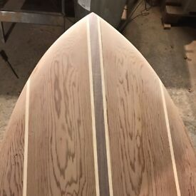 Hand made hollowcore surfboard