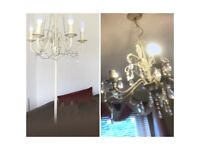 Paparazzi ceiling and floor lamp in great condition five bulb each one