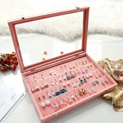 Velvet Earrings Storage Display Case Holder Hanger Organizer Jewellery Box L