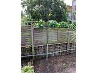 Free garden pole for hanging baskets or bird feeders