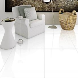 Brilliant White Polished Porcelain Tiles