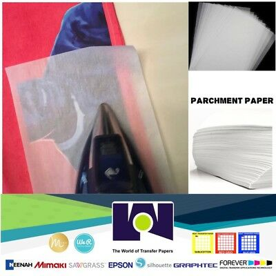 Silicone Parchment Paper For Heat Transfer Applications 8.5x11 200 Sheetspk