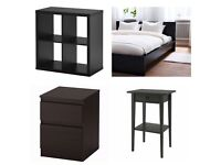 Black IKEA Furniture Set