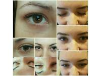 Classic eyelash extension and 2 types hair extensions