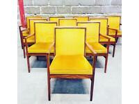 Run of 10 Mid Century Retro Dining Chairs Gordon Russell