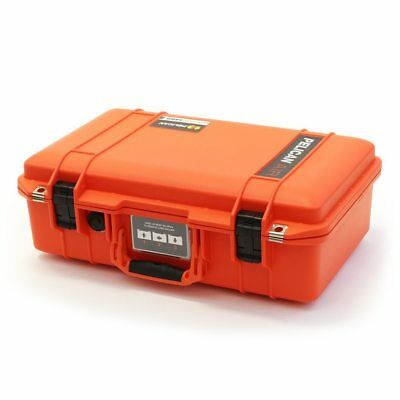 Orange & Black Pelican 1485 Air case No Foam.