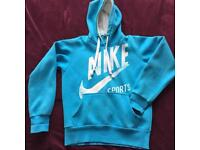 Women's NIKE sport blue hoodie size L/M
